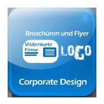 Corporate-Design, Logo und Markenerstellung, Visitenkarten, Broschüren und Flyer