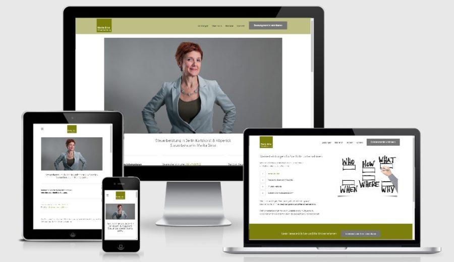 Modernes WordPress Webdesign - Steuerberaterin Marita Birke