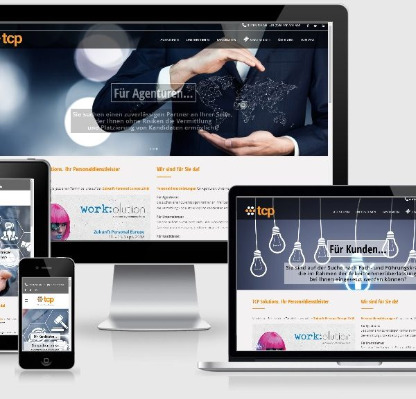 Kreatives Wordpress Webdesign - Personalagentur tcp Solutions