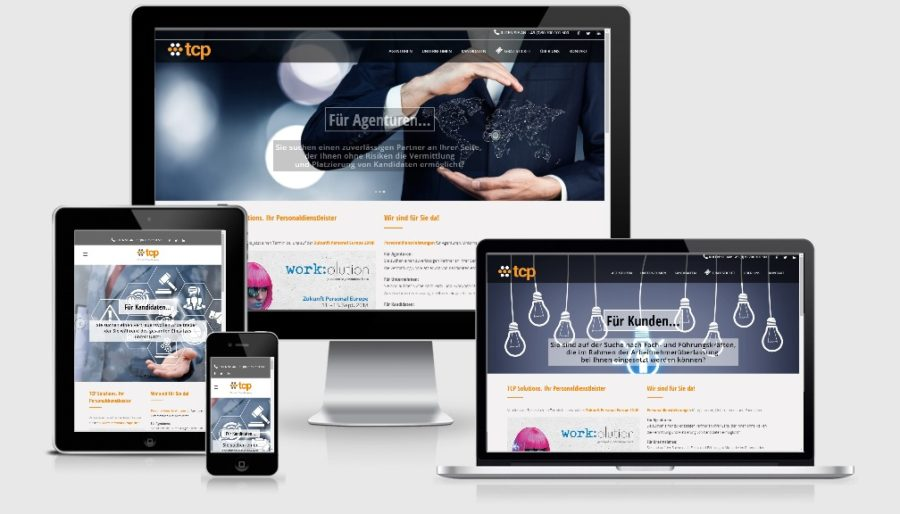 Kreatives WordPress Webdesign - Personalagentur tcp Solutions