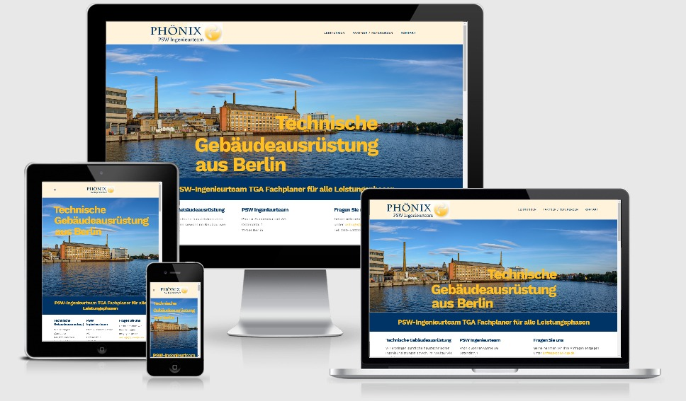 Individuell Wordpress Webdesign - Ingenieurbüro PSW