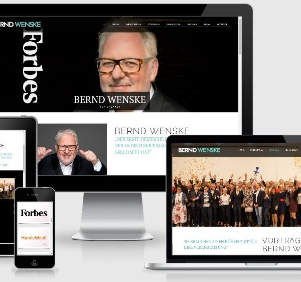 Modernes Wordpress Webdesign - Speaker Bernd Wenske