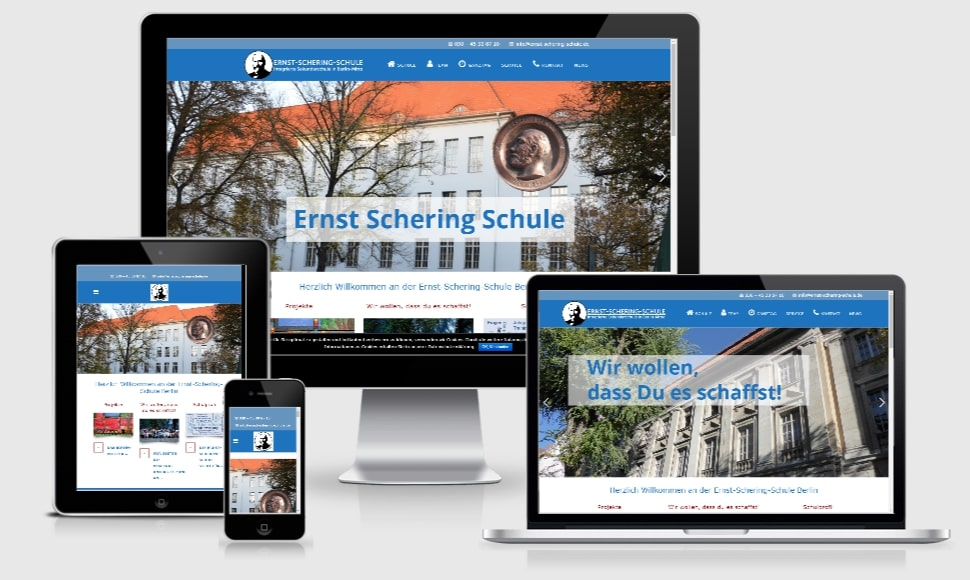 Wordpress-Webdesign Webseite Schule Berlin
