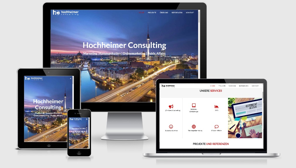 Hochheimer Consulting GmbH - WordPress Webdesign aus Berlin