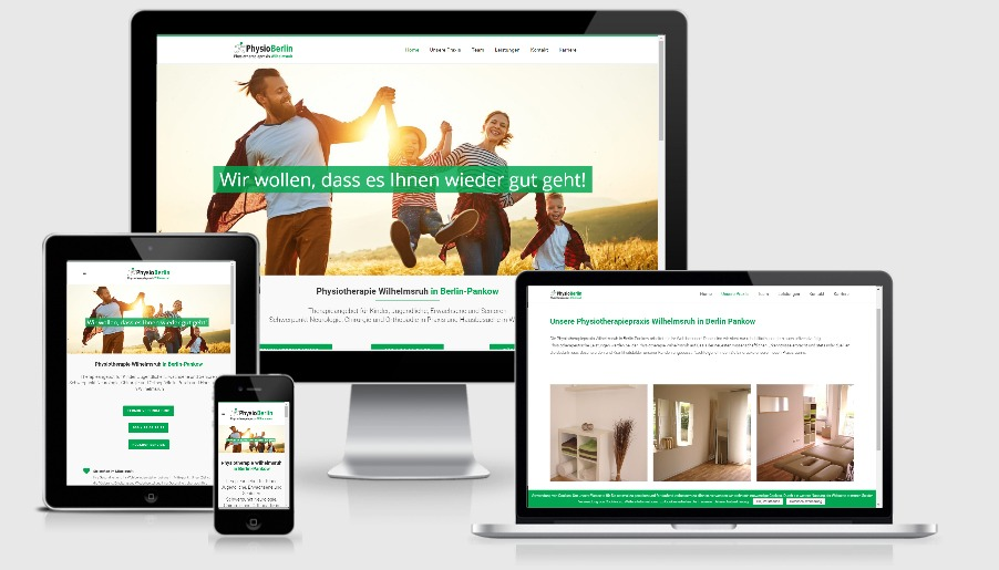2019 Physiotherapiepraxis - Wordpress Webdesign Berlin