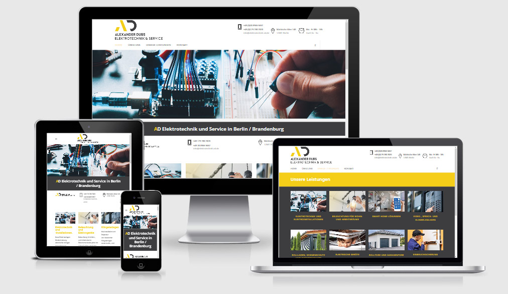 AD Elektrotechnik | Wordpress Webdesign Agentur in Berlin