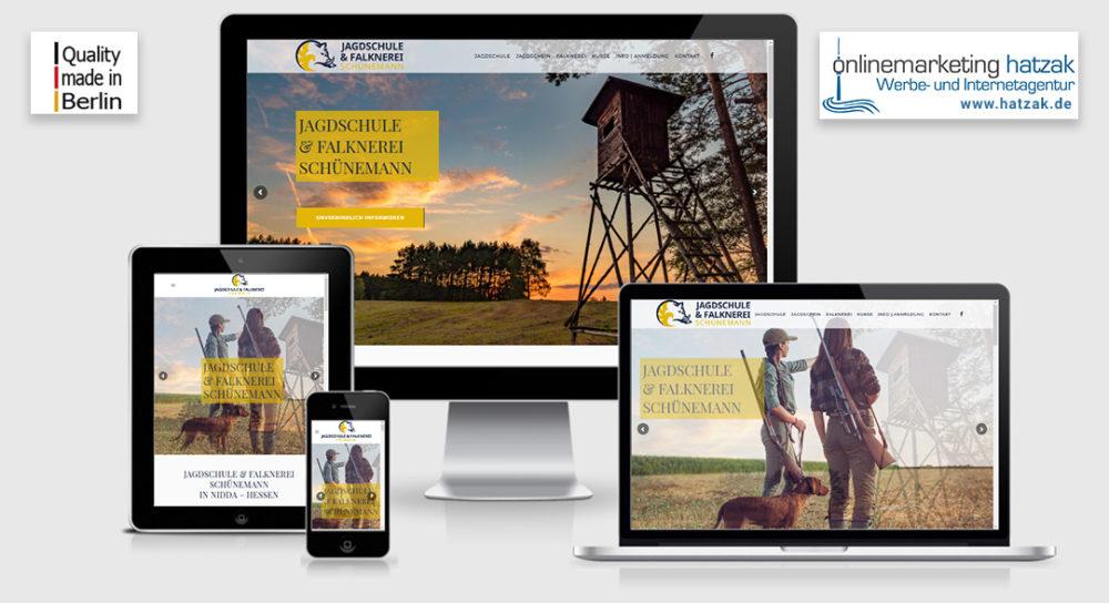 Webdesign Wordpress Agentur Berlin - Jagdschule Hessen