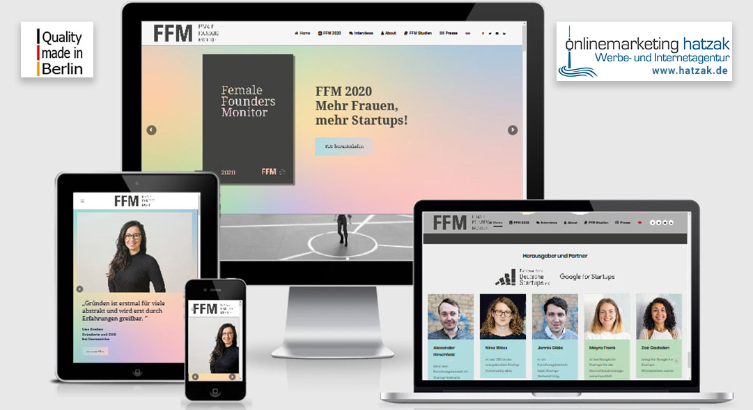 2020-07 femalefoundersmonitor.de - Wordpress Webprogrammierung