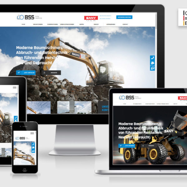Wordpress Webdesign Berlin - BSS Baumaschinen