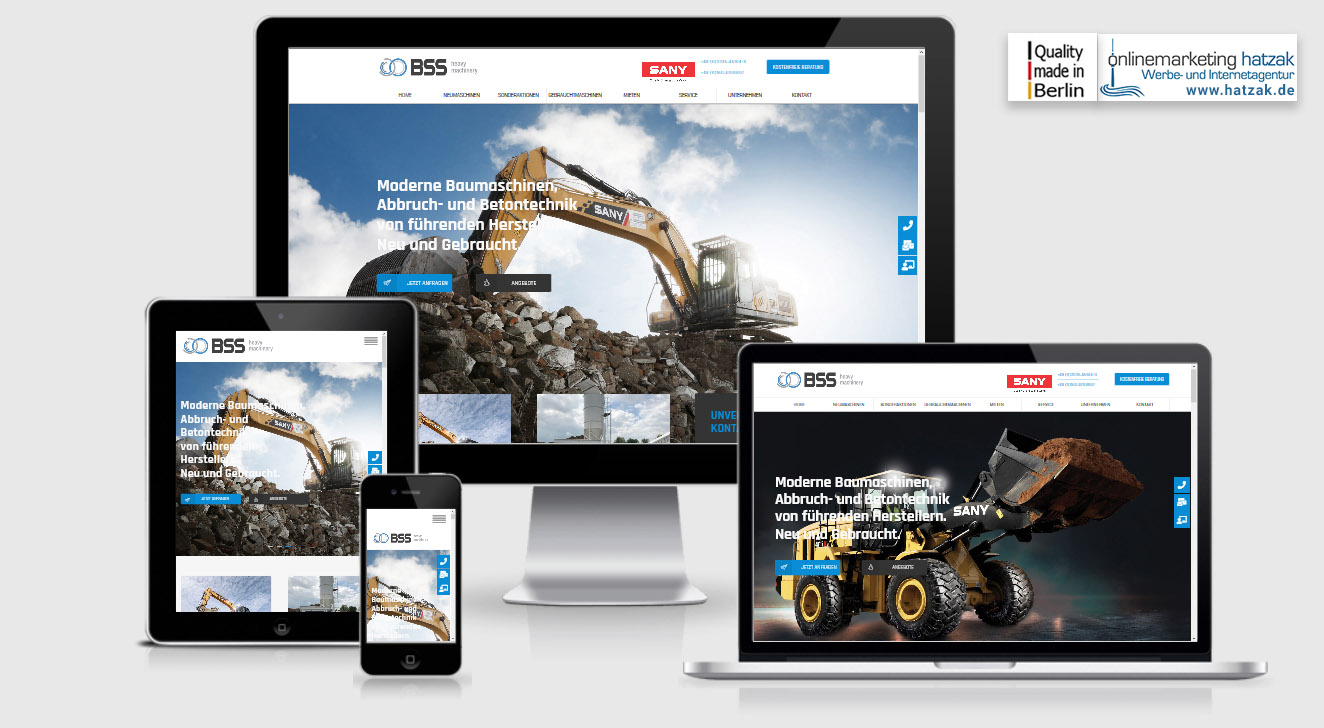 Wordpress Webdesign Berlin - BSS Baumaschinen