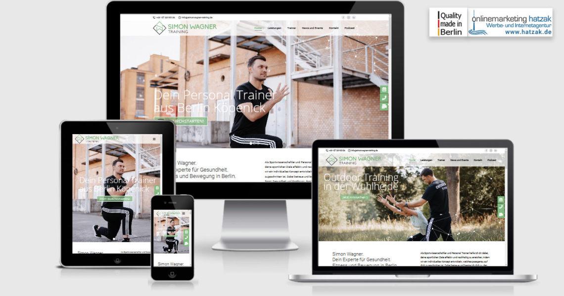 Wordpress Webdesign - Personaltrainer Simon Wagner in Berlin