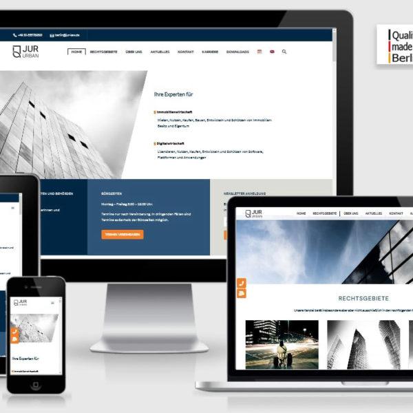 Wordpress Referenzprojekt jur-urban Rechtsanwaltskanzlei Berlin