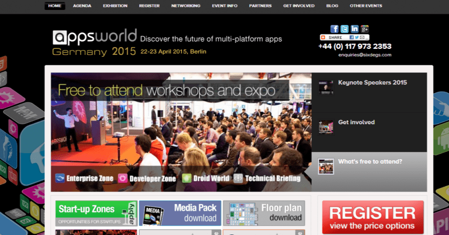 "Messe ""Apps World Germany 2015"" in Berlin"