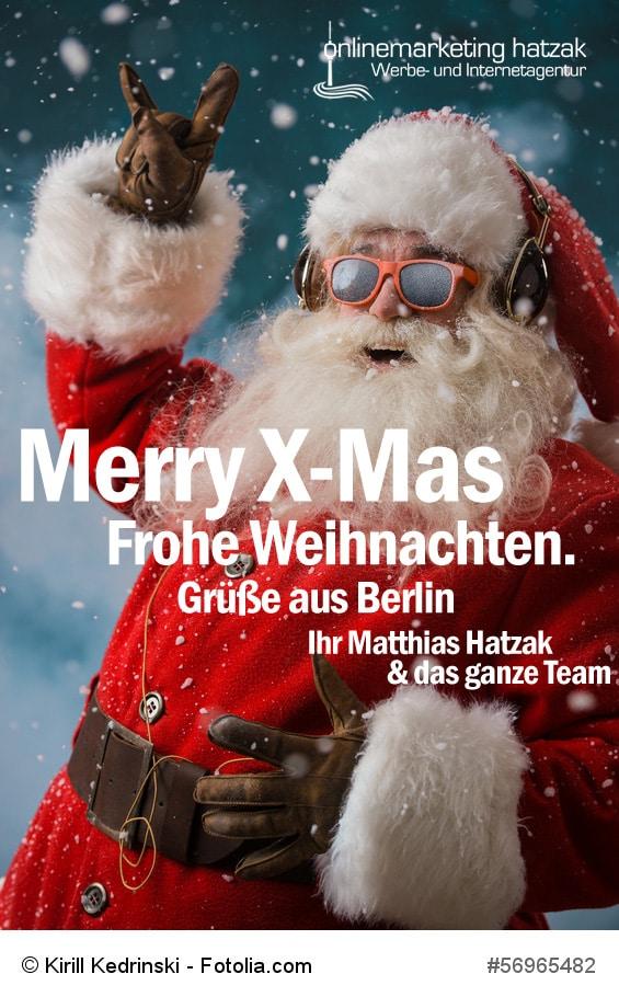 Frohe Weihnachten - Onlinemarketing hatzak aus Berlin