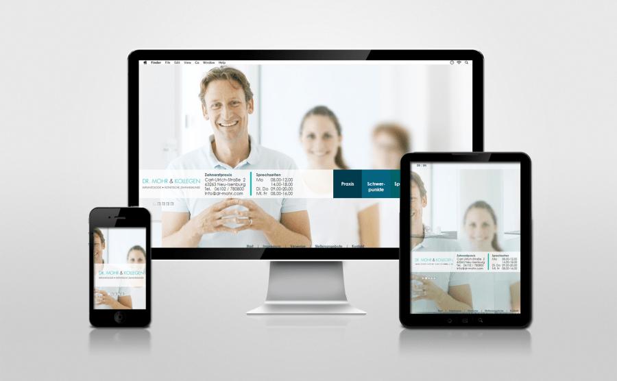 Referenz Webseite Zahnarzt Mohr in Neu-Isenburg