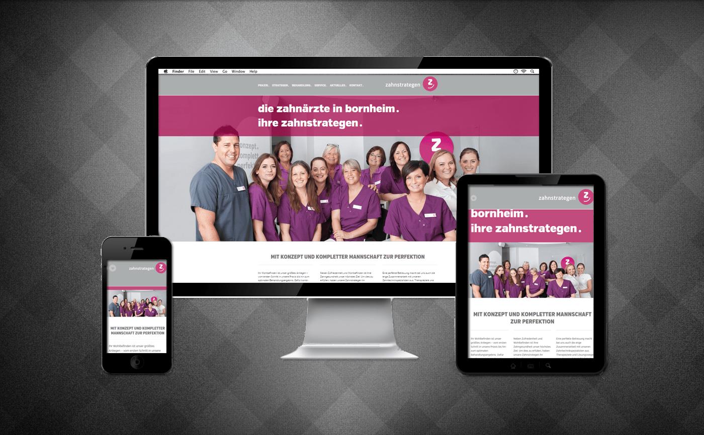 Referenz Webseite Zahnarztpraxis Bornheim-Merten Zahnstrategen