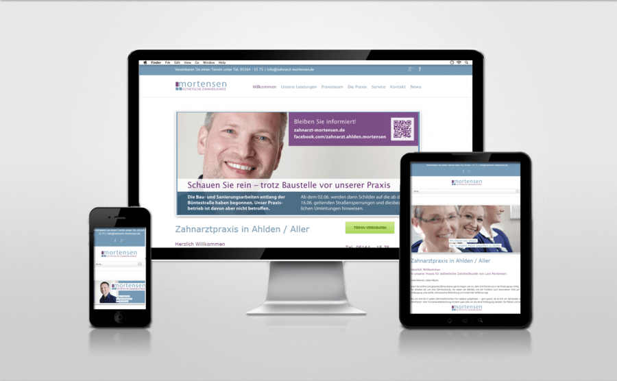 Referenz Webseite Zahnarzt Ahlden/Aller Lars Mortensen