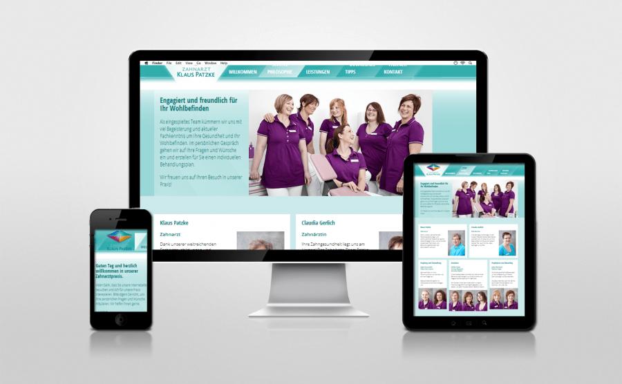 Referenz Webseite Zahnarztpraxis Aschaffenburg - Patzke