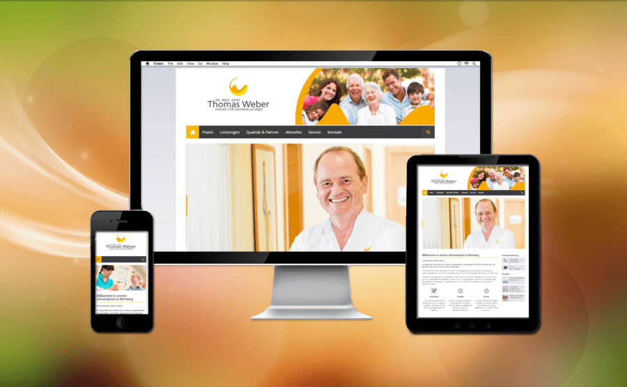 Referenz Webseite Zahnarzt Weinsberg Thomas Weber