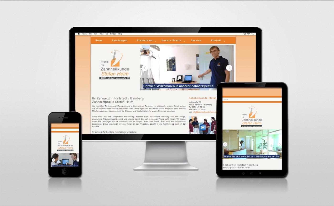 Referenz Webseite Zahnarztpraxis Hallstadt Bamberg - Stefan Heim