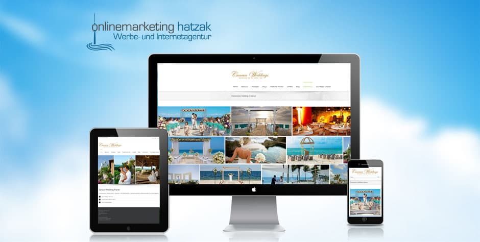 Referenzen Webdesign Cancunwedding