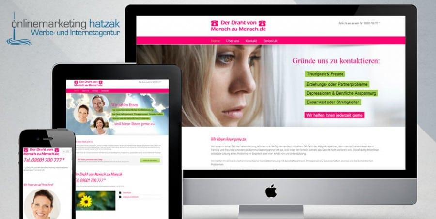Referenzen Webdesign derdrahtvonmenschzumensch