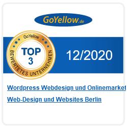 Goyellow TOP 3 Bewertungssiegel 2020-12