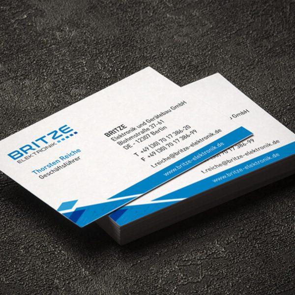 Visitenkarten - Agentur für Corporate Design Berlin-britze-vk