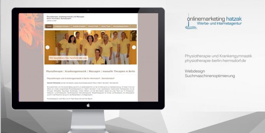 Webdesign Referenz Physiotherapie Berlin