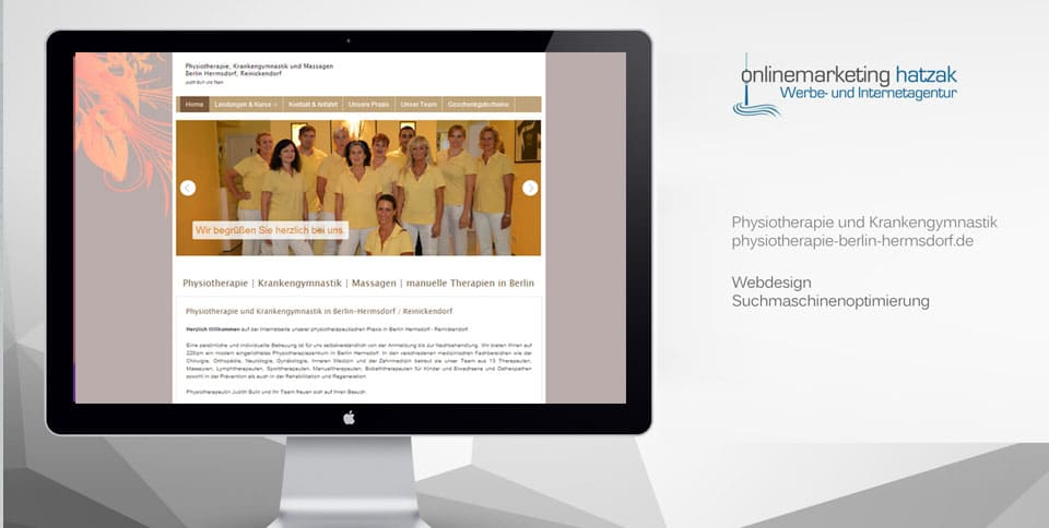 Webdesign Referenz Physiotherapie Berlin