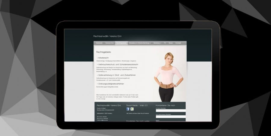 Webdesign Referenz Rechtsanwalt Erni