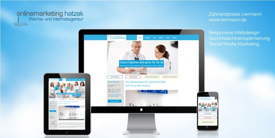 Webdesign Referenz Zahnarzt Liermann in Köln
