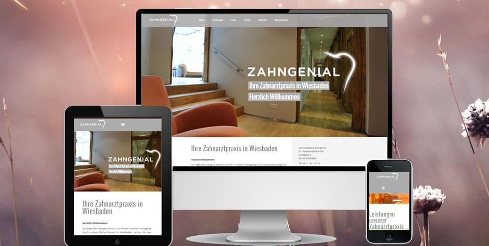 Webdesign Referenz Zahnarztpraxis Zahngenial