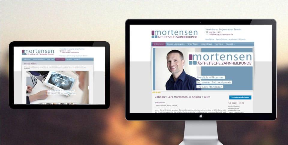 Webdesign-Referenz-zahnarzt-mortensen
