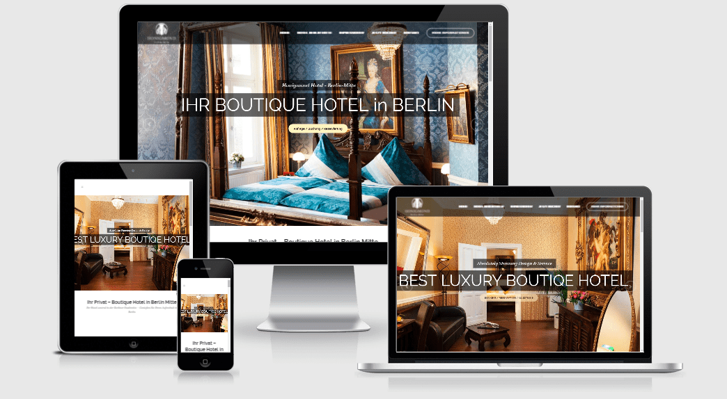 Wordpress webdesign agentur berlin ihre webseite for Boutique hotel berlin mitte