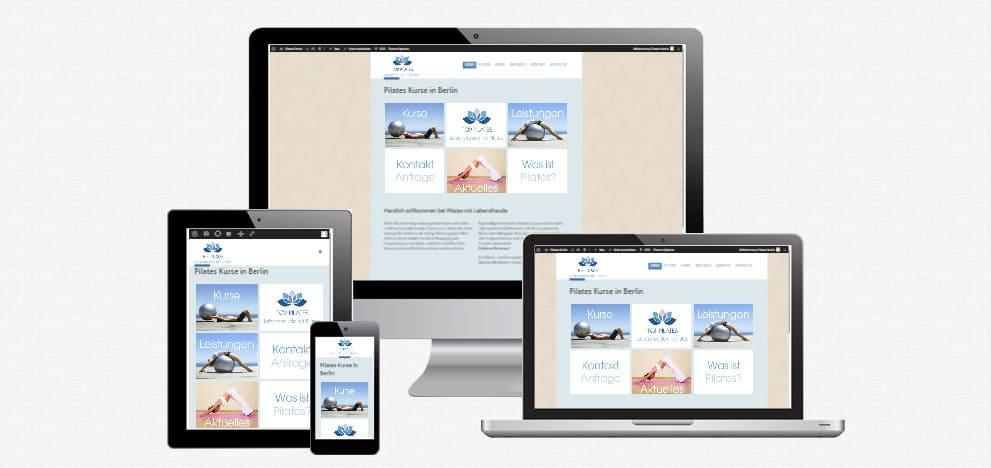 Webdesign für Pilates und Fitnesstudio