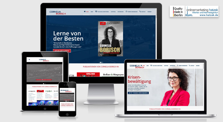 Speaker Coaching Cornelia Borisch - WordPress Agentur Berlin