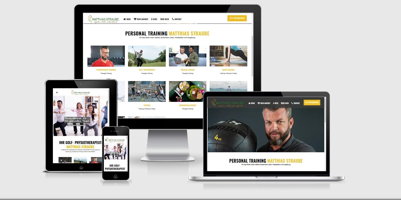 WordPress Webdesign Agentur für Personaltraining Matthias Hatzak