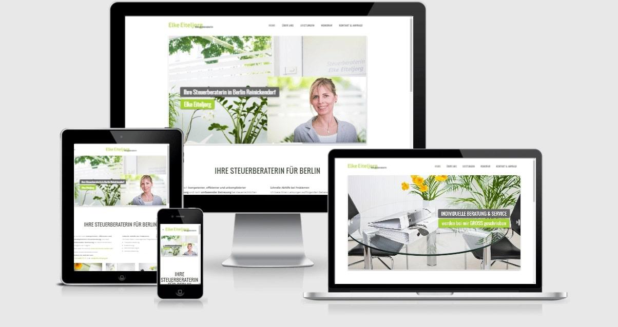 Wordpress Webdesign - Steuerbüro & Steuerberater in Berlin